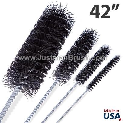 42-Inch Black Nylon Industrial Tube Brushes