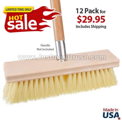 "Pack of (12) 10"" Deck Scrub Brushes"