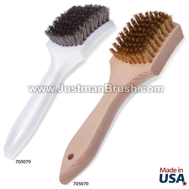 Large Utility Brushes - Wood and Plastic Handle