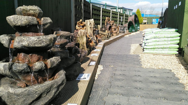 Water Features on Display Outside at York Shop