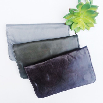 women's leather wallets, interior zip pockets