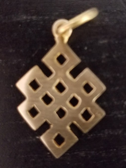 Brass Diamond Shape with Square Cut Out