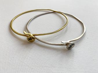 charm bracelet, charm bangle, silver bangle