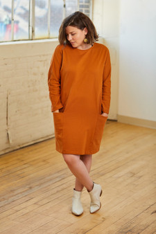 2 Pocket Long Sleeve Dress