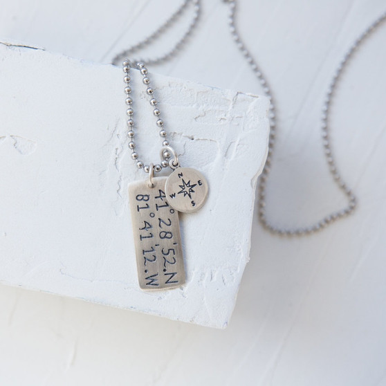 Cleveland-inspired charm jewelry, coordinates jewelry, metal bar charms, numerical charms