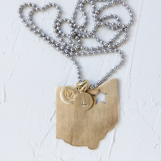 star charm, home state charm jewelry, Ohio charm