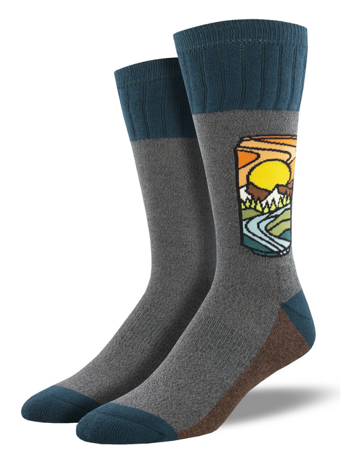 Brew With A View Outdoor Socks For Men