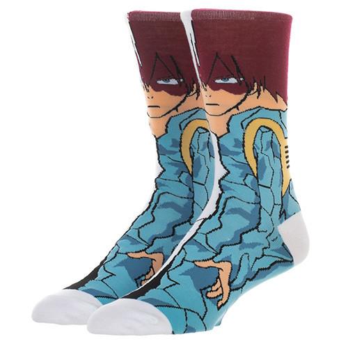 My Hero Academia Todoroki 360 Character Crew Socks