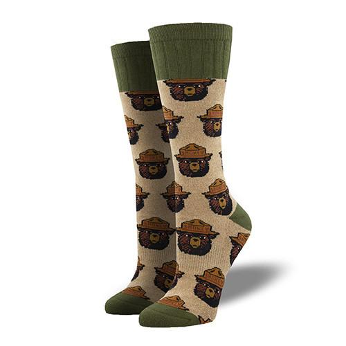 Smokey The Bear Outdoor Socks For Women