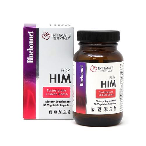 Intimate Essentials for Him, Testosterone & Libido Boost, 30 Caps