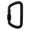NFPA Large D Carabiner - Screw Lock (Black)