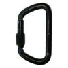 NFPA Large D Carabiner - Screw Lock (Black)