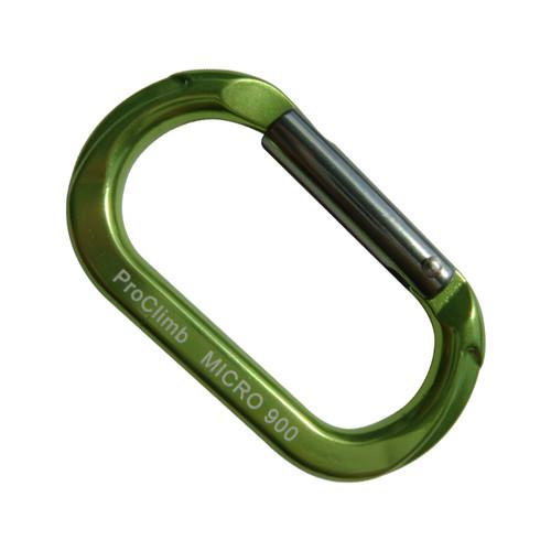 Micro 900 Carabiner - Lime Green