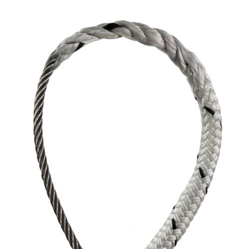 "7/16"" - Wire-to-Rope Halyard w/ 3/16"" Wire Diameter (Black Tracer)"