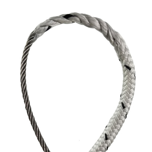 "1/2"" - Wire-to-Rope Halyard w/ 7/32"" Wire Diameter (Black Tracer)"