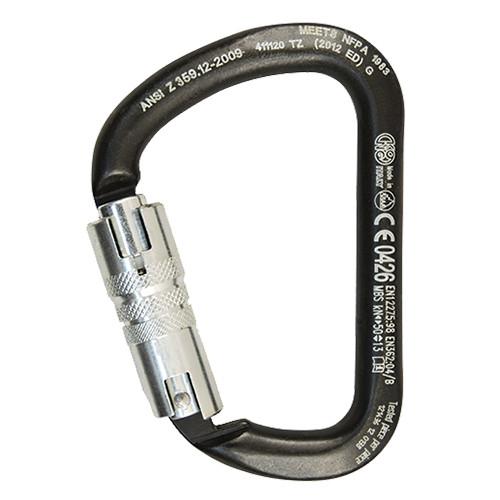 XL ANSI Twist Lock Carbon Steel Carabiner