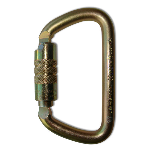 Twist Lock Large D Steel Carabiner