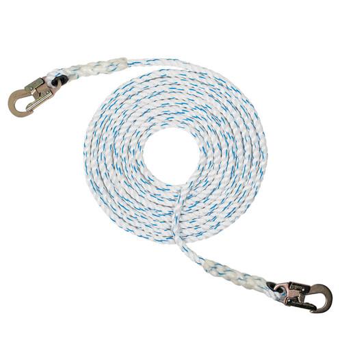 """5/8"""" - 3 Strand Composite Vertical Lifeline - Hook On Both Ends"""