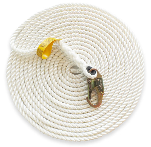 "5/8"" - 3 Strand Vertical Lifeline - Hook & Thimble"