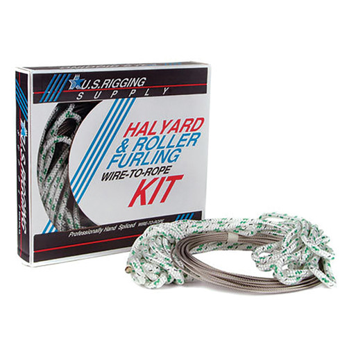 """5/16"""" - Wire-to-Rope Halyard w/ 1/8"""" Wire Diameter (Green Tracer)"""