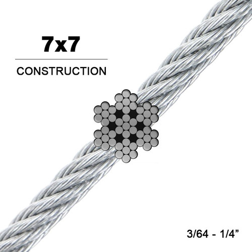 7x7 | Galvanized Steel Wire Rope (Aircraft Cable)