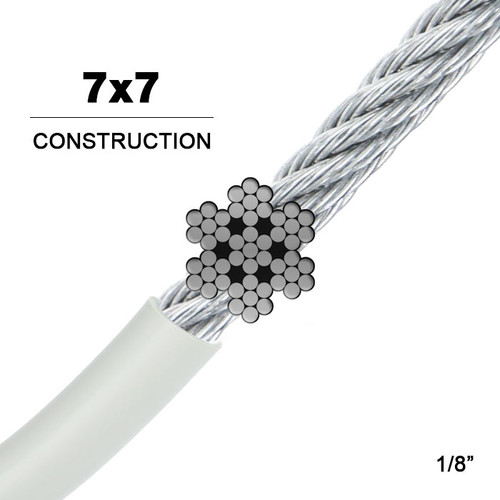7x7 | Vinyl Coated Galvanized Steel Wire Rope (Aircraft Cable)