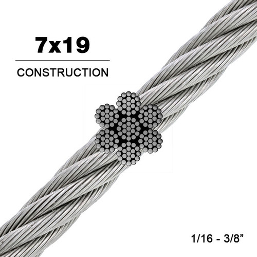 7x19 | 304 Stainless Steel Wire Rope (Aircraft Cable)