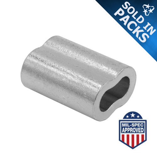Zinc Plated Copper Duplex Sleeves (Oval Cable Ferrules)