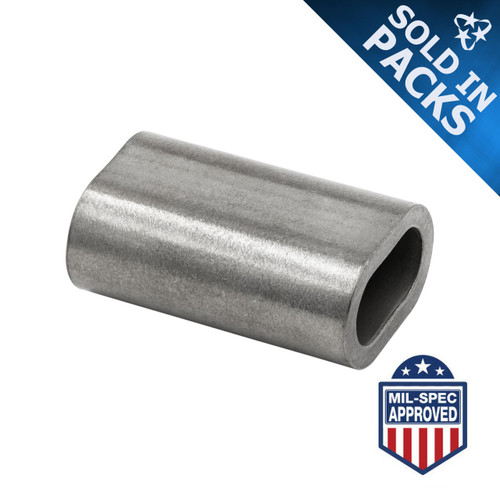 Stainless Steel Swage Sleeves (Oval Cable Ferrules)