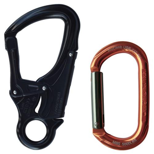 True Oval Alu. Carabiner + Alu. Snaphook w/ Fixed Eye Bundle