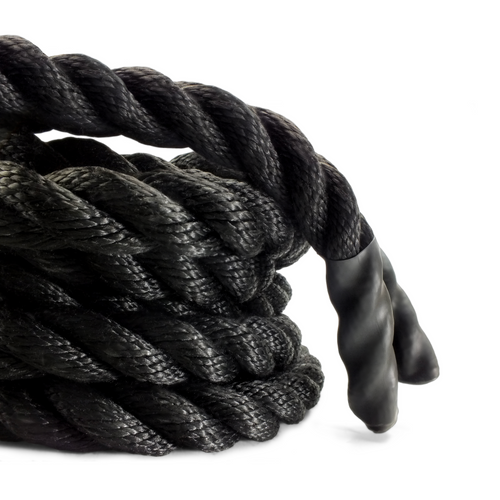 """Olympic Poly Dacron Battle Rope - 1.5"""" Diameter 35' / 45' / 55' Feet - Full Body Workout, Home Gym, Strength Training, Crossfit Training"""