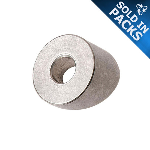 """1/8"""" or 3/16"""" Threaded Terminal 316 Stainless Steel Beveled Washers"""