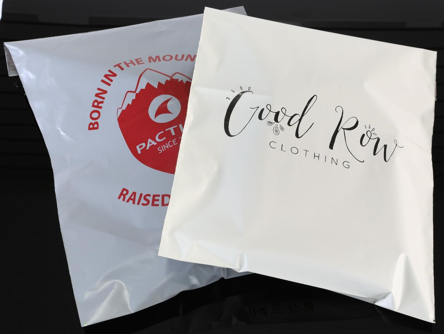 Custom branded recycled poly mailers