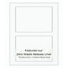 """White Shipping Label on Zero Waste Liner - 6.5"""" x 4.5"""" -  200 Labels"""