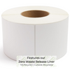 "Zero Waste Liner Direct Thermal Label - 4"" x 6"" - INDUSTRIAL (1000 Labels) - Single Roll"