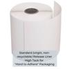 "High Tack, Direct Thermal Label on Standard Liner - 4"" x 6"" - REGULAR (250 Labels) - Single Roll"
