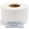 "High Tack, Direct Thermal Label on Standard Liner - 4"" x 6"" - INDUSTRIAL (1000 Labels) - Single Roll"