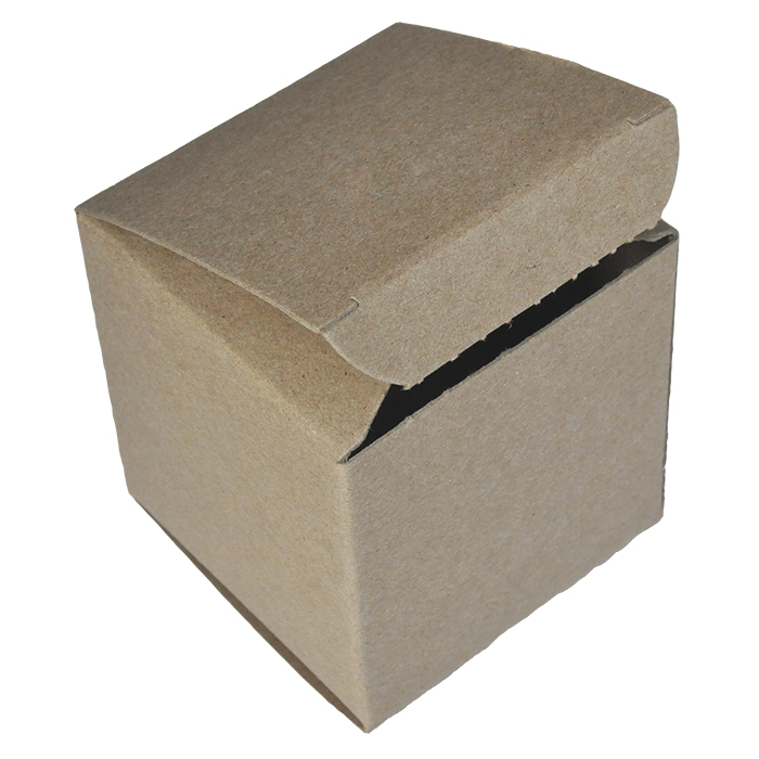 """4 x 4 x 4"""" - 100% Recycled Tuck Boxes - Case of 250"""