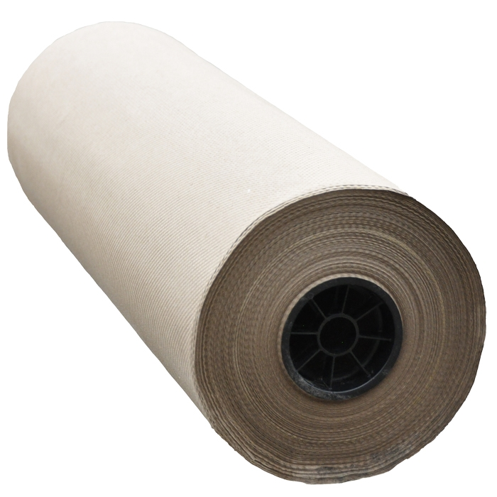 "100% Recycled Indented Kraft Paper Roll - 24"" x 360'"