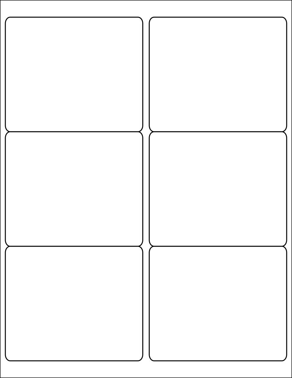 "4x3.3"" Rectangle Stickers - Sheets"