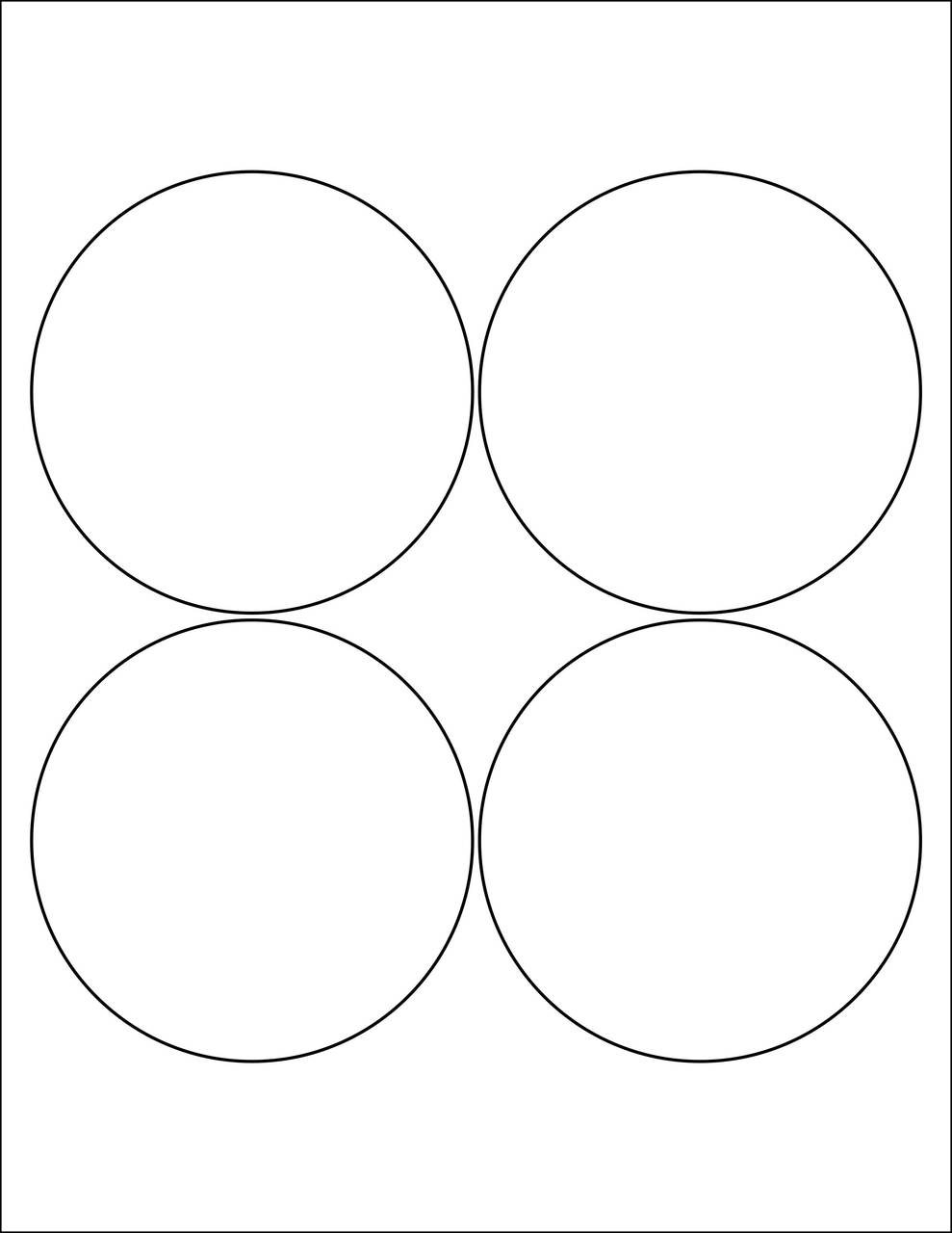 "4"" Circle Stickers - Sheets"