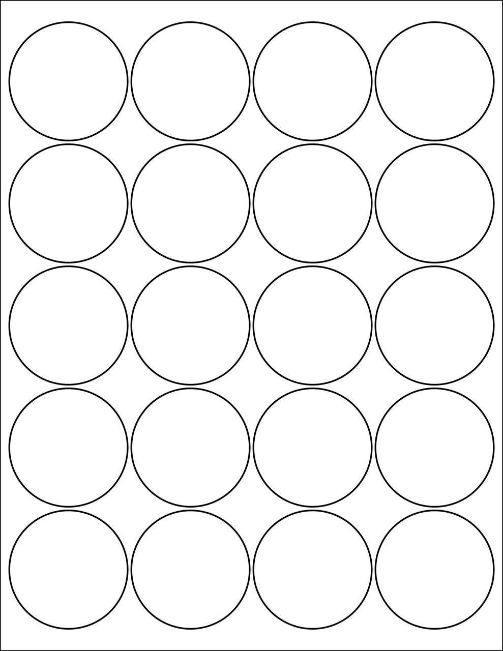 "2"" Circle Stickers - Sheets"
