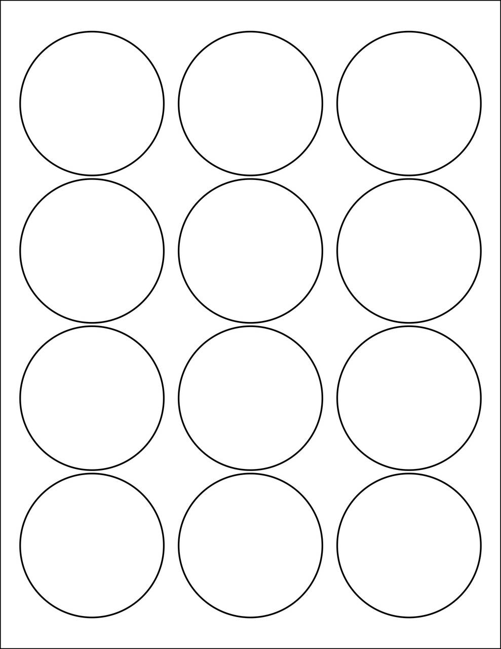 "2.5"" Circle Stickers - Sheets"