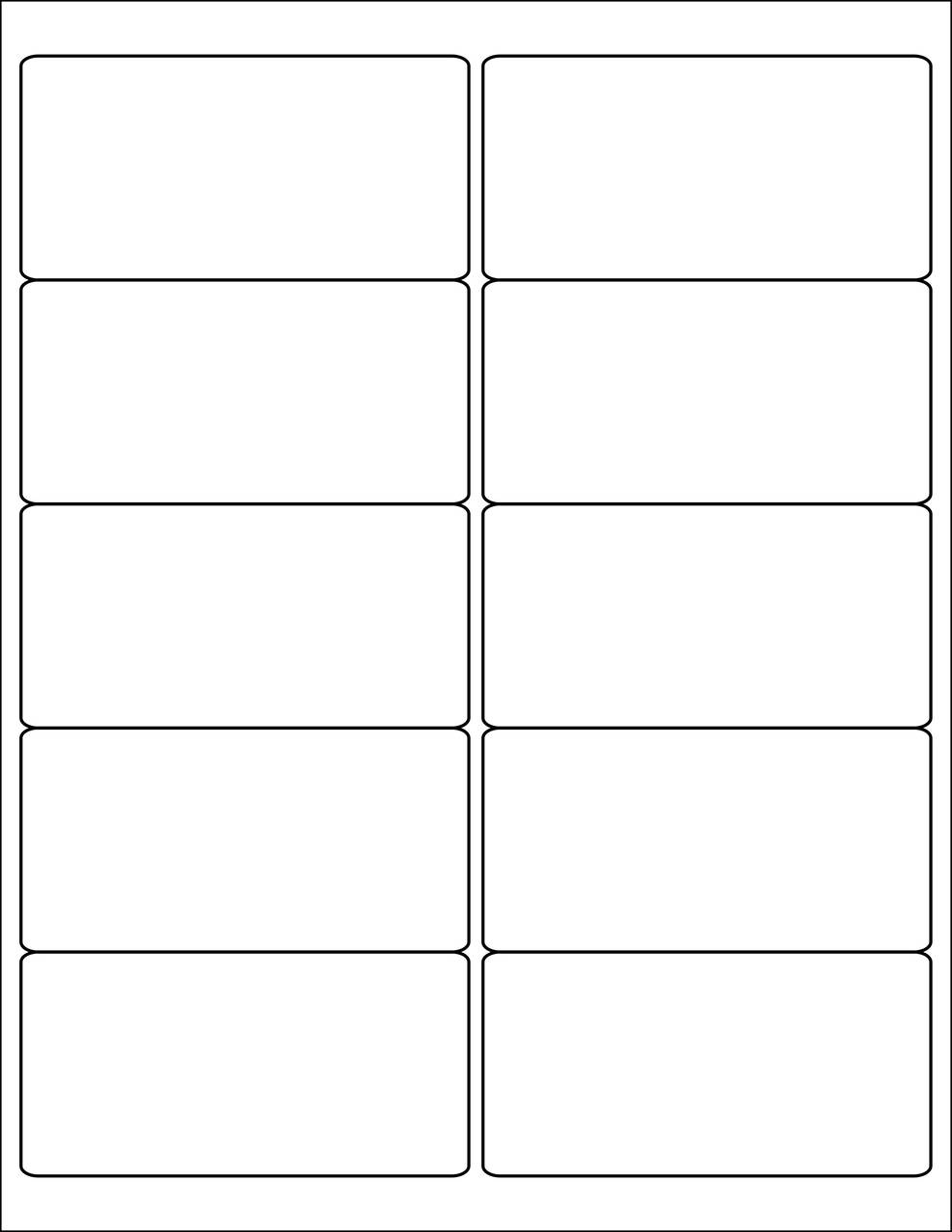 "4x2"" Rectangle Stickers - Sheets"