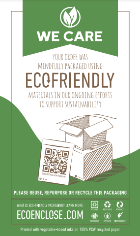 We Care Eco Friendly Materials Card