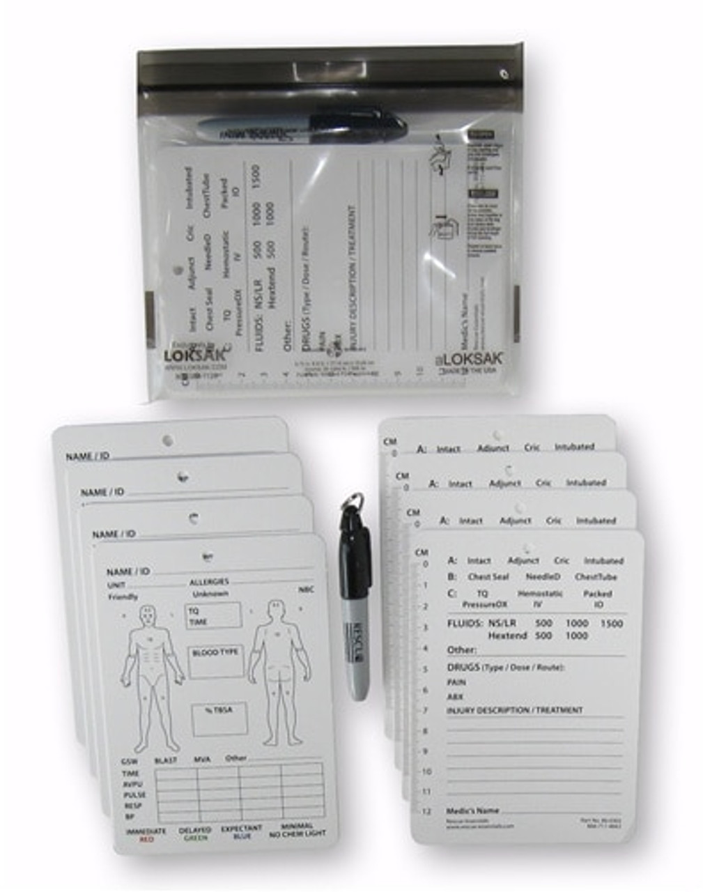 Combat Casualty Card-8 Pack w/ Sharpie Marker