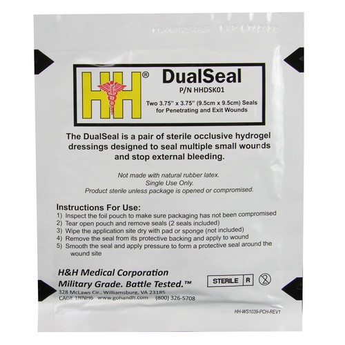 H & H DualSeal - Chest Seal Two-Pack