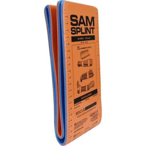 "ORANGE//BLUE SAM® SPLINT 10-0370 9/""- FLAT"
