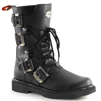 "**1"" Heel, Calf High Combat Boot"