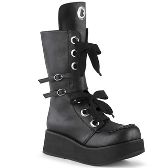 """**2 1/4"""" PF Lace-Up Mid-Calf Boot, Side Zip"""